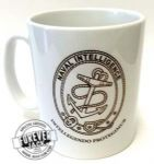 Naval Intel White Mug (Black Outline)